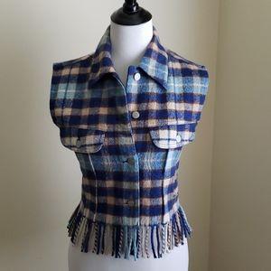 Chipie flannel fringe vest